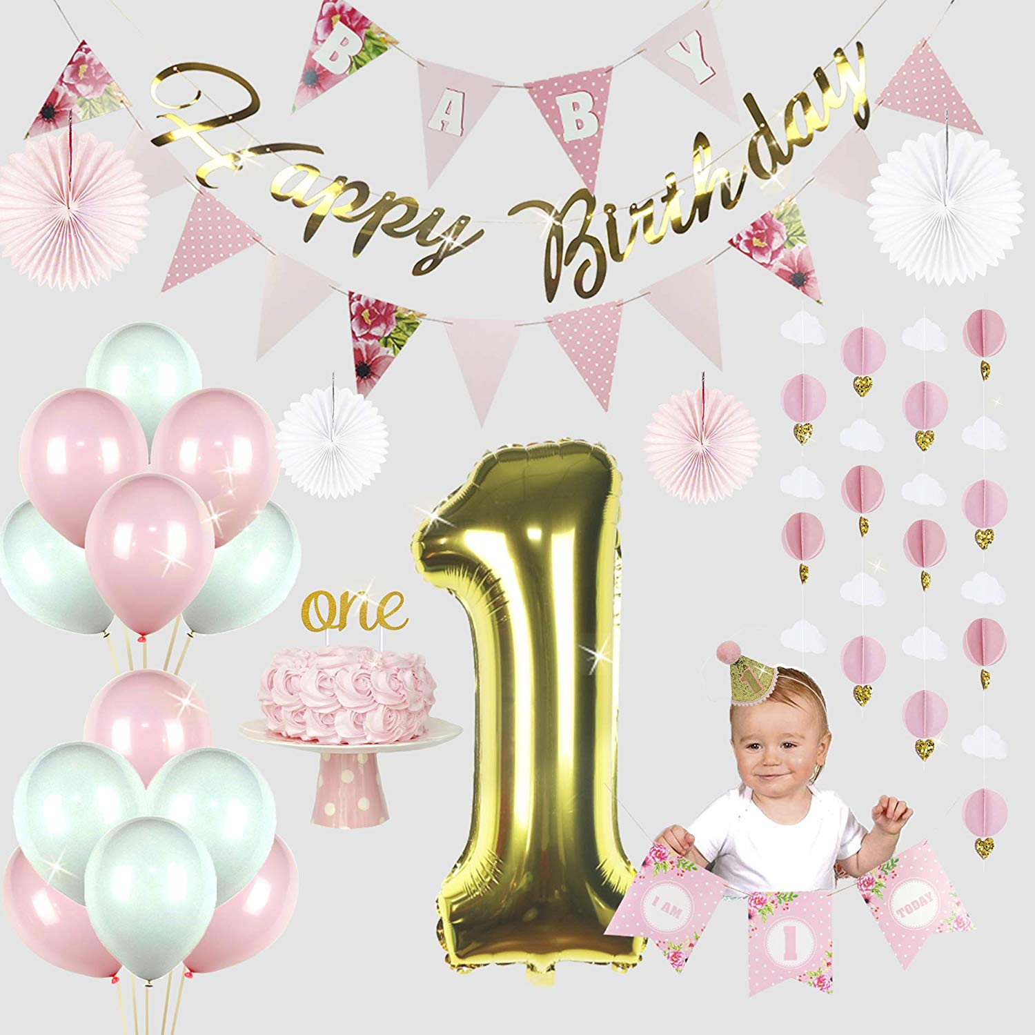 Get Quotations First Birthday Decorations For Girl