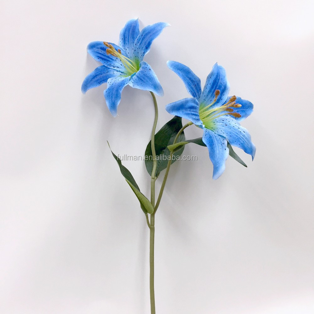 China factory direct h55cm blue silk wedding flowers artificial china factory direct h55cm blue silk wedding flowers artificial tiger lily izmirmasajfo Gallery