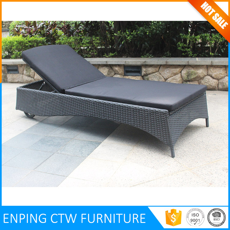 Best Selling Outdoor Furniture Wicker Sunbed Used Chaise