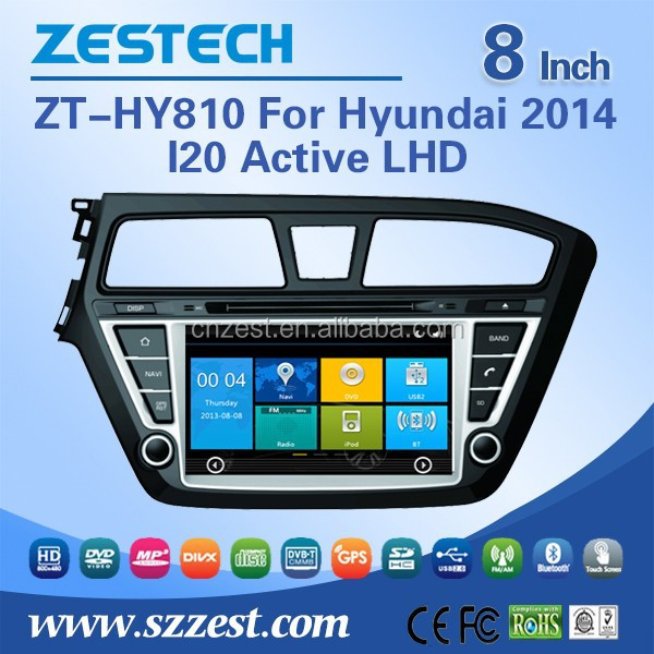 Zestech Oem Dashboard Placement Car Dvd Player For Hyundai I20 ...