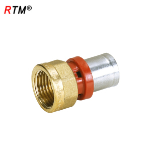 J17 4 13 6 press fitting for pex pipe brass female equal tee
