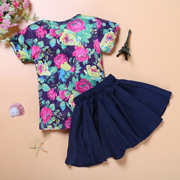 8cff9b41baf7 Summer floral kids wear frock baby girls clothes little girl cute dresses  for girls online