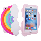 Newest Products Oem Odm Soft Silicone Gel Rubber 3D Cartoon Rainbow Shockproof Cool Fun Cell Phone Case For Iphone 6 6 Plus