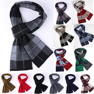 high quality mens scottish checked scarf winter knitted pattern 100% cashmere scarf