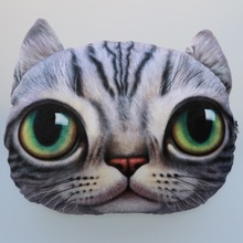 40cm*38cm Creative Cartoon pillow Cushion Car Cushion Cover Handsome Cat Nap Pillow Cushion and Pillow Washable Waist Pillow