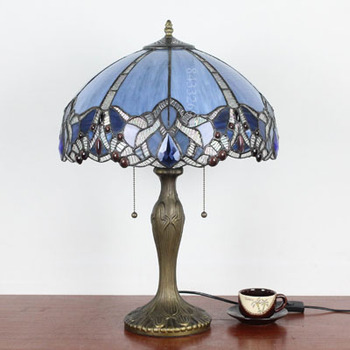 Bending design for 16inches tiffany stained glass home lighting table lamp