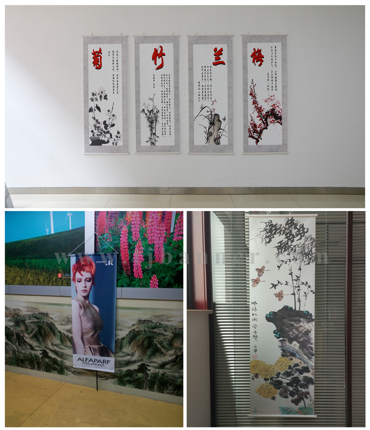 China Factory Customizable indoor hanging banners print