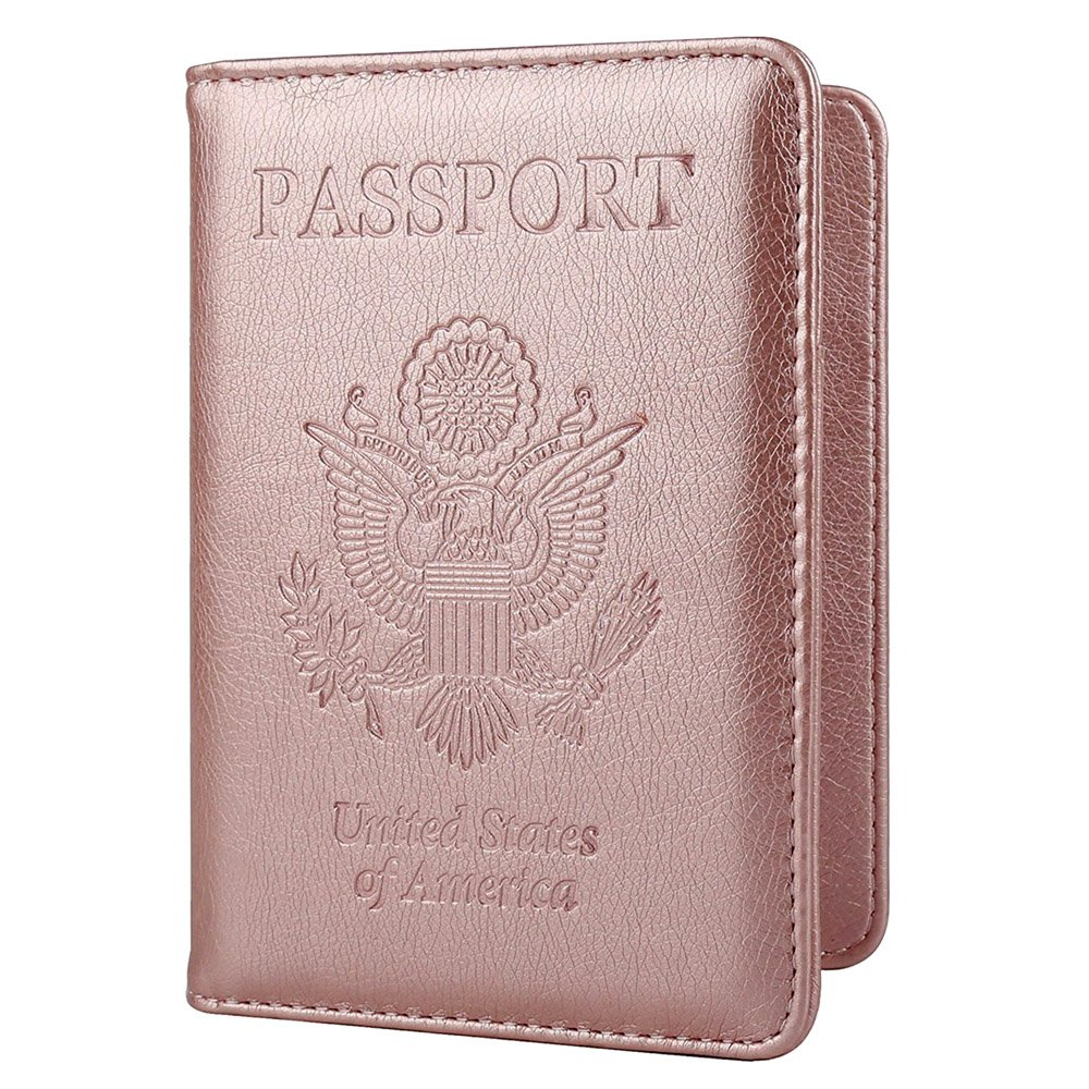 367ca7fef Get Quotations · Passport Holder Travel Cover Case - HOTCOOL Leather RFID  Blocking Wallet For Passport