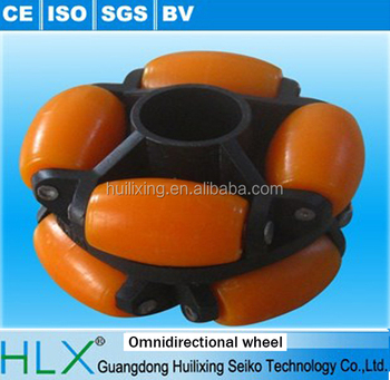 2015 hot sale Orange Rotacaster Omni-wheels for assembly line, skate wheel for conveyor line, goods in china factory