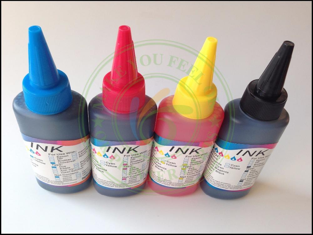 400 мл универсальный 4 цвет mcm Y K пополнения краситель для канона HP Epson брат Lexmark DELL Kodak струйный принтер снпч картридж