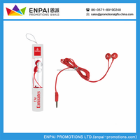 2018 Hot fashion Logo Customized promotional wired earphone