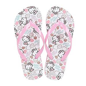 ef160e206 Get Quotations · Sanrio Hello Kitty Flip Flops Kids Slippers Summer Shoes :  Heart