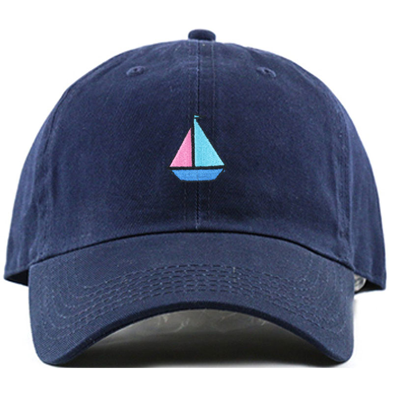 baseball cap embroidery near me size custom navy blue unstructured hat adjustable leather strap