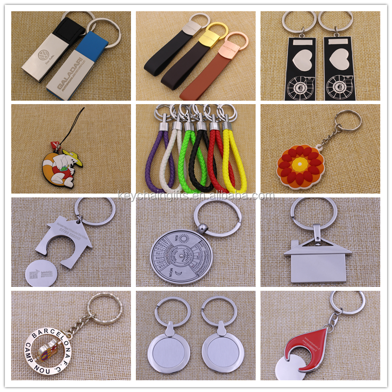 Custom made metal round coin keychain with logo