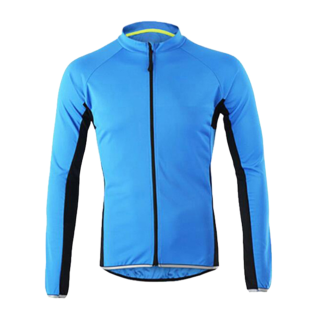 Breathable Unisex Reflective Cycling Jacket Long Sleeve Cycling Jersey Jacket Custom Cycling Wear
