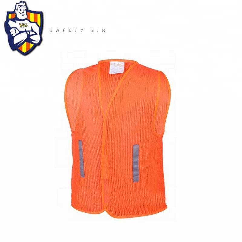 simple safety <strong>vest</strong> <strong>orange</strong> cheap yellow traffic accident ansi 100% polyester mesh fabric motorcycle reflective <strong>vest</strong>