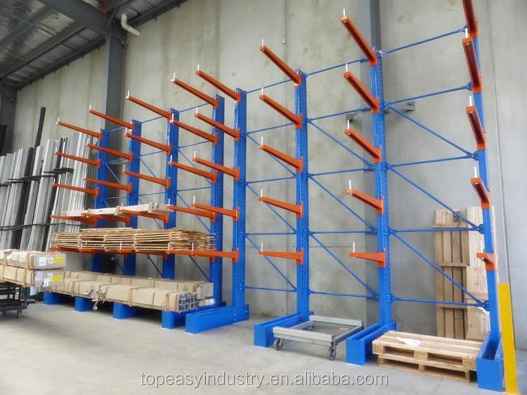 Warehouse Storage Rack Cantilever Racking For Cable Reel / Hose Reel /  Rebar Storage