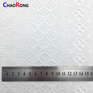 CRF0507 latest fashion swiss white cotton embroidery lace fabric for dress making