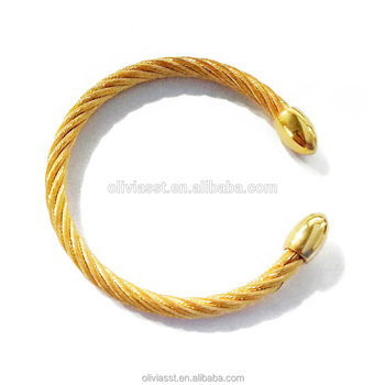 Stainless Bracelet Men Cable Wire