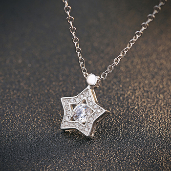 Tryme jewelry korean fashion star silver pendant 925 sterling silver tryme jewelry korean fashion star silver pendant 925 sterling silver star diamond pendant neck ornaments gift mozeypictures Image collections