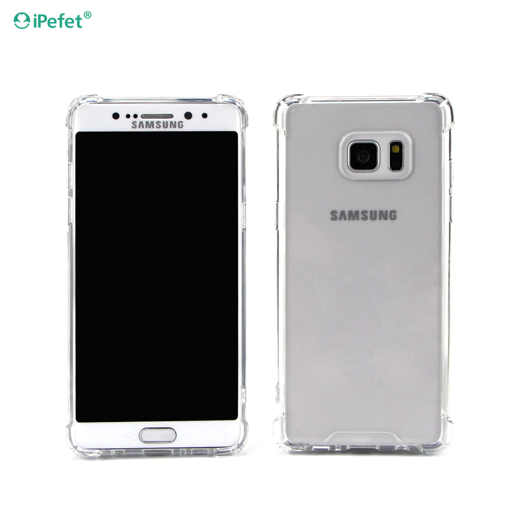 New Arrive Air Cushion Shockproof Clear TPU PC Phone Case Cover For Samsung Galaxy Note 7