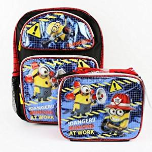 d80bd284d6fd Get Quotations · Despicable Me Minions At Work Glitter Boys and Girls School  Backpack with Lunch Bag Set