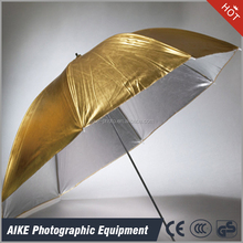 Photography studio equipment Gold and silver convertible reflective umbrella