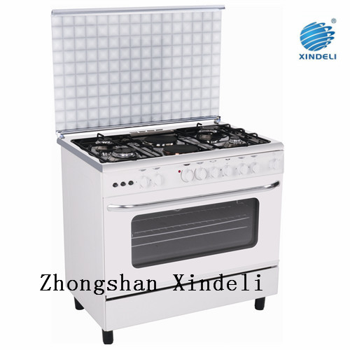 Top quality 36 Inch stainless steel 4 gas burner +2 hotplate free standing electric cooker with single gas oven range 110V
