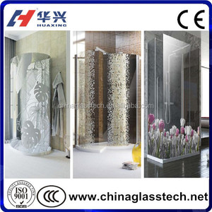 CE/CCC/ISO Safety Glass Pattern Customized Shower Door Stained Glass