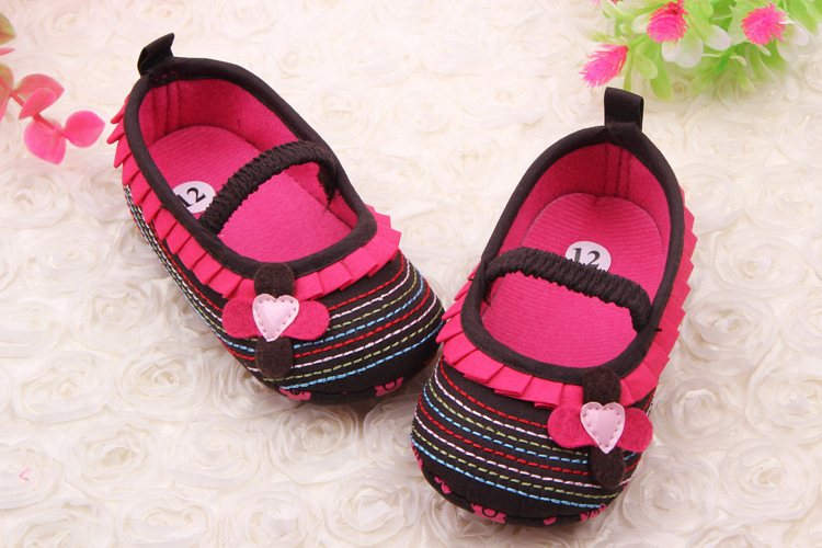 Hot Sale Spring New Girls First Walker Shoes Baby Toddler Shoes Soft Bottom Bow Cotton Baby Shoes 3 Size To Choose