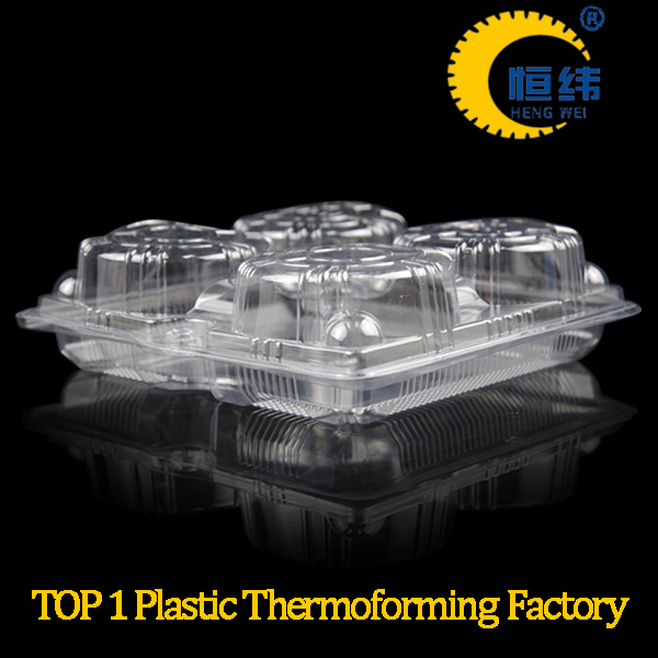 Custom thermoforming PVC or PET blister clamshell tray