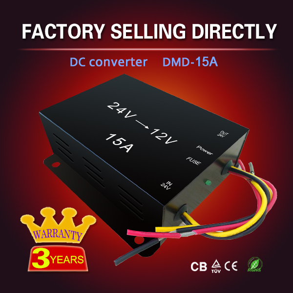 15A 20A High efficiency voltage dc24v to dc12v converter with memory line