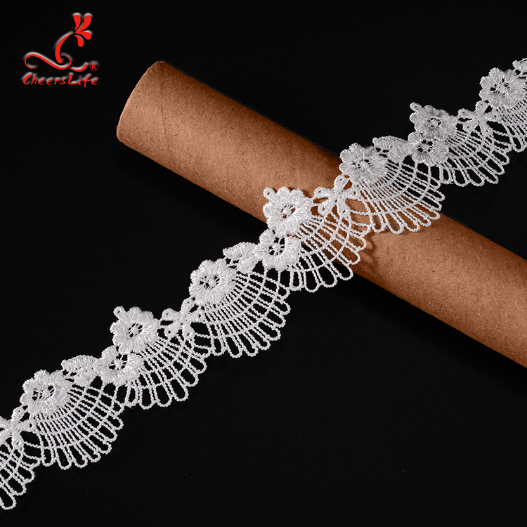 Cheerslife exquisite chemical embroidery  France guipure lace trim