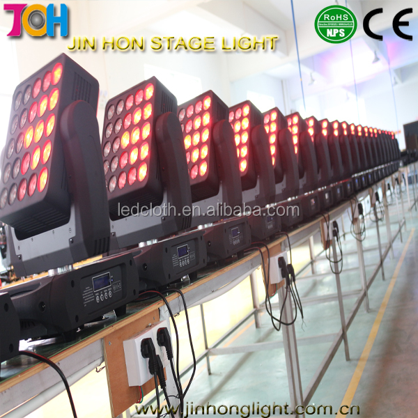 led stage beam lighting/ 25*12W led matrix moving head light RGBW