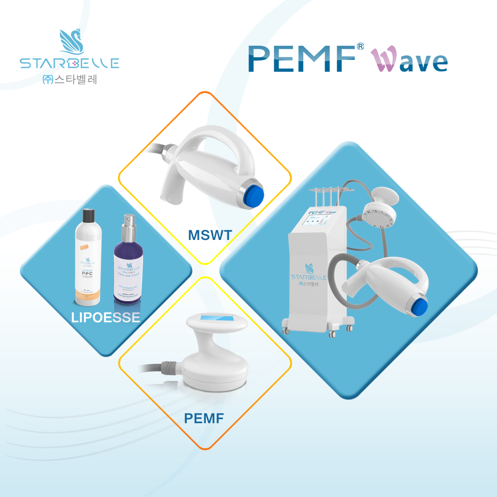 Exporter Beauty Salon Shockwave PEMF Double Therapy Spa Device
