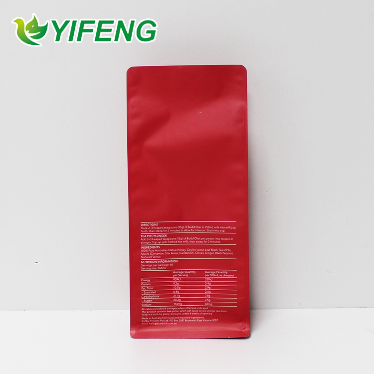 Custom Printing Quad Flat Bottom Plastic Pouch Pocket Zipper Side Gusset Ziplock Valve Zip Lock Bags With Logo Coffee
