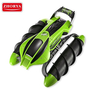 Zhorya Water And Stunt Land RC Tank Multifunctional RC Amphibious Stunt Car