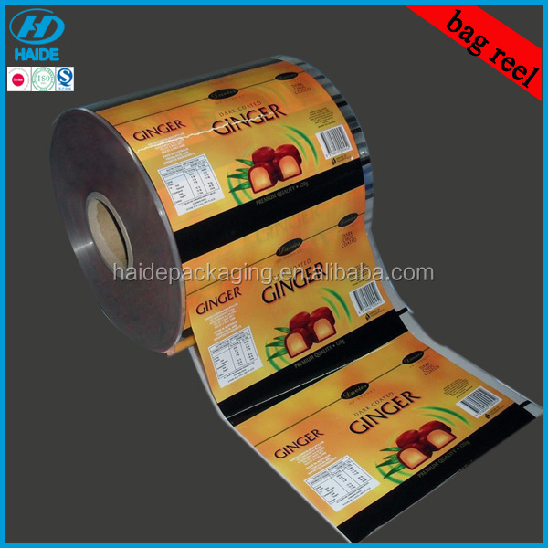 gravure printing lamination food packaging roll film for ginger product