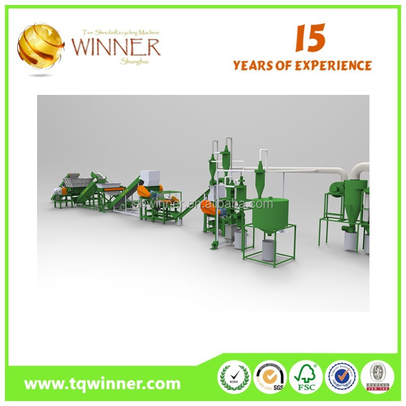 For plastic bottle wood pallet rubber tube recycling machine