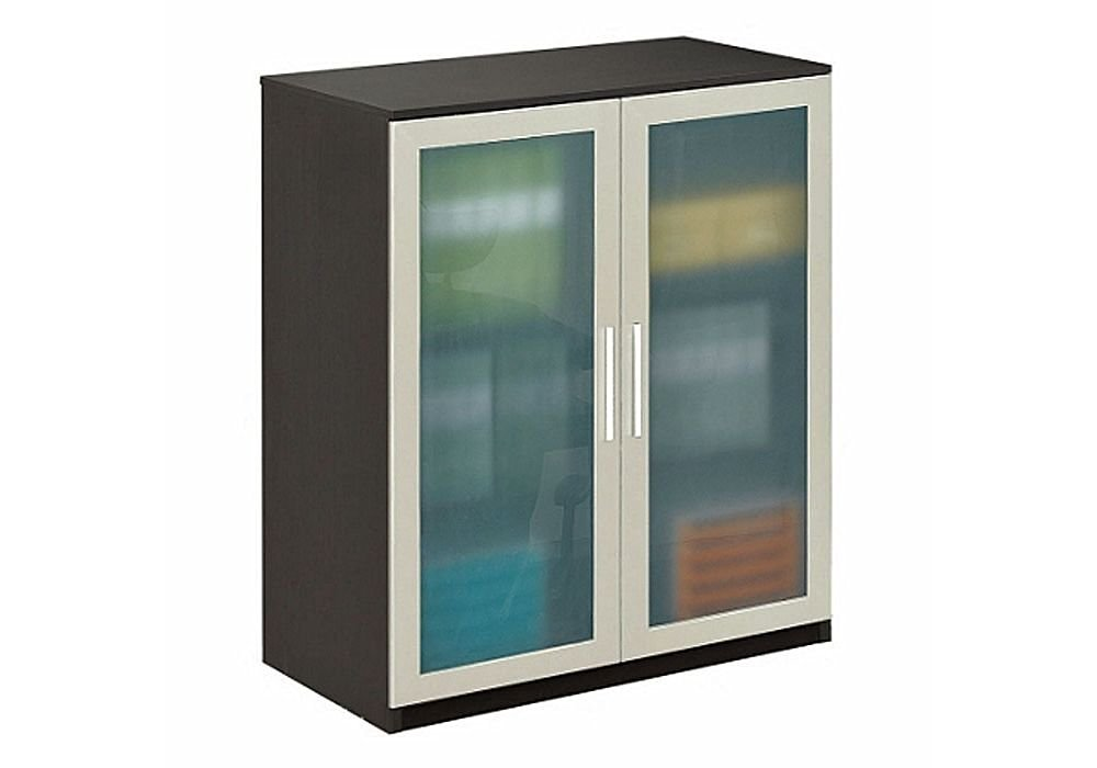 Perfect Get Quotations · Storage Cabinet With Glass Doors, Espresso Wenge/Frosted Glass  Doors   At Work Collection
