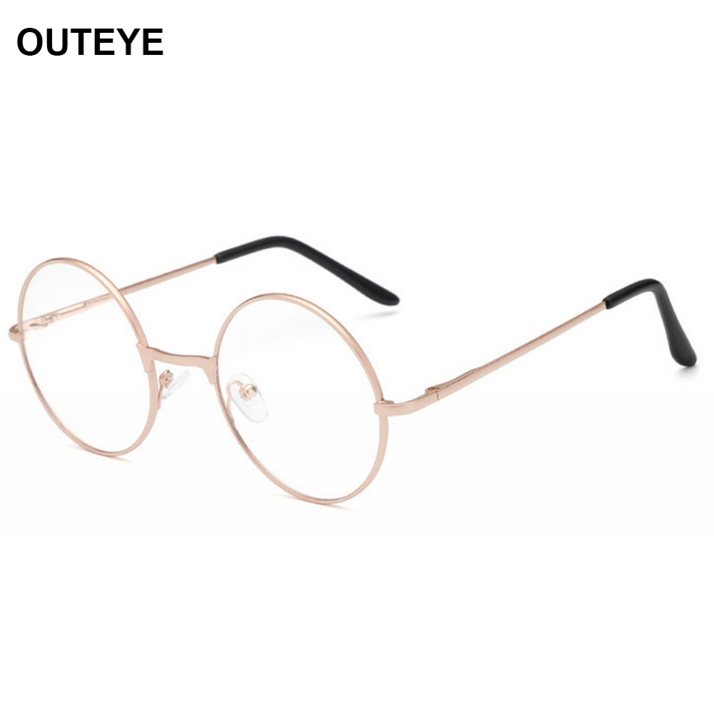 a056a13adeff 2019 Wholesale OUTEYE Vintage Round Reading Glasses Metal Frame ...