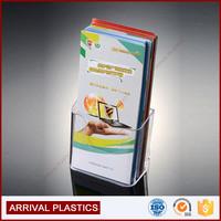 1pocket wall mount acrylic brochure holder Modern design A5 plastic brochure holder