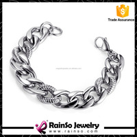 2016 fashion 316L stainless steel chain bracelet with CZ diamond for women