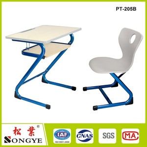 Ergonomic MDF/Plywood children desk school desk and table students study chair