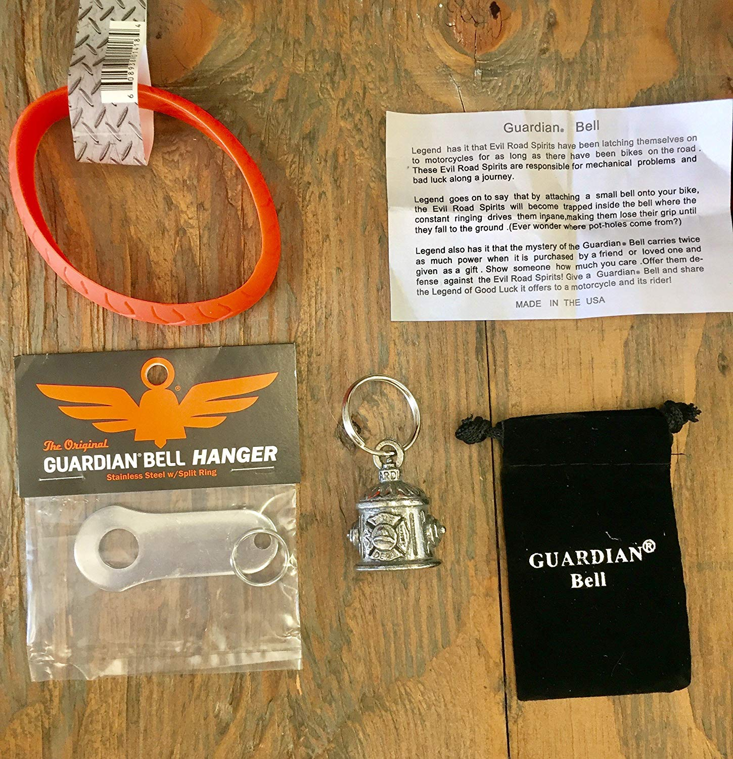Guardian® Bell Firefighter Complete Motorcycle KIT W/Hanger & Wristband