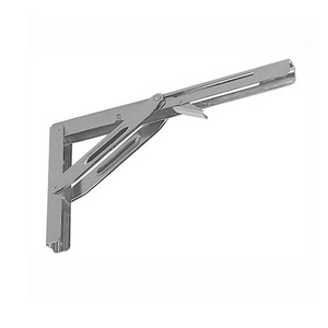 Metal L Foldable Drop Down Corner Shelf Bracket