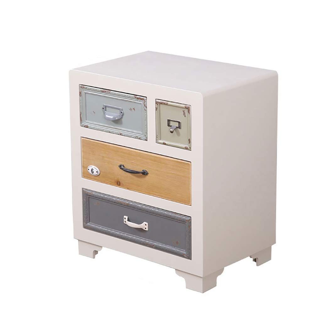 ZHANGLIXIANG GZ American Bedside Table, Simple Modern Bedroom Small Apartment Bedside Cabinet Mediterranean Style Personality Creative Cabinet
