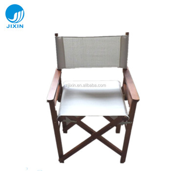 Beau Outdoor Garden Antique Folding Wooden Director Chairs