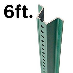 """Standard U-Channel Sign Post - 6' tall (2-1/8"""" Wide), 3.0625"""" x 72"""""""