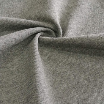 Stretch terry cloth 60 cotton 40 polyester knitted fleece fabric